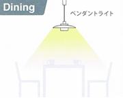 diningの照明の選び方