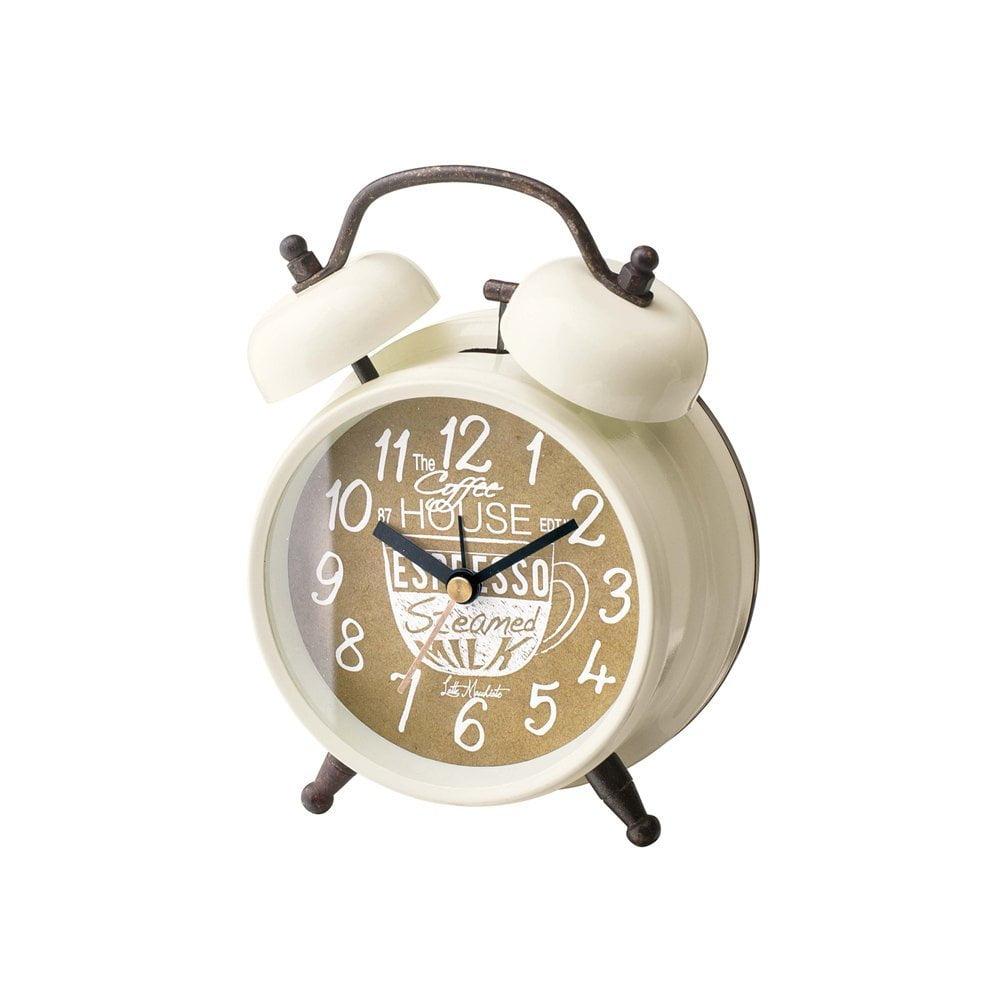 CL-1475 コーヒー ブレイク Table CLOCK 置き時計 目覚まし時計