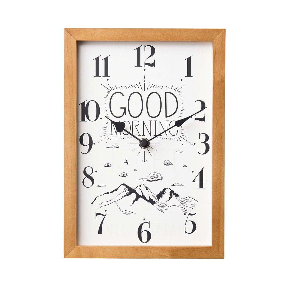 CL-1692 Good Morning and Good Night グッドモーニング・グッドナイト 壁掛け時計 置き時計 2way 静かな時計