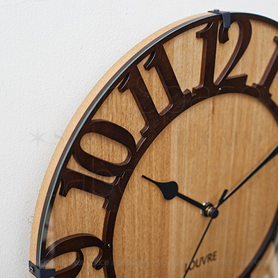 CL-8333 ミュゼ -ウッド 壁掛け時計 電波時計 RDIO CONTROLLED CLOCK ステップムーブメント