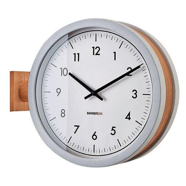 CL-3276 マッカーティ WALL CLOCK 壁掛け時計 両面時計 静かな時計 2way