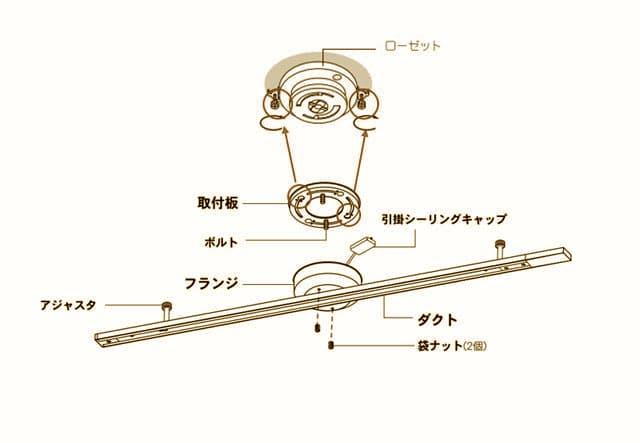 roset ceiling 取り付け方 ダクトレール